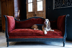19th Century French Daybed Sofa - Burnt Plum