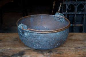 Vintage French Brass Cauldron