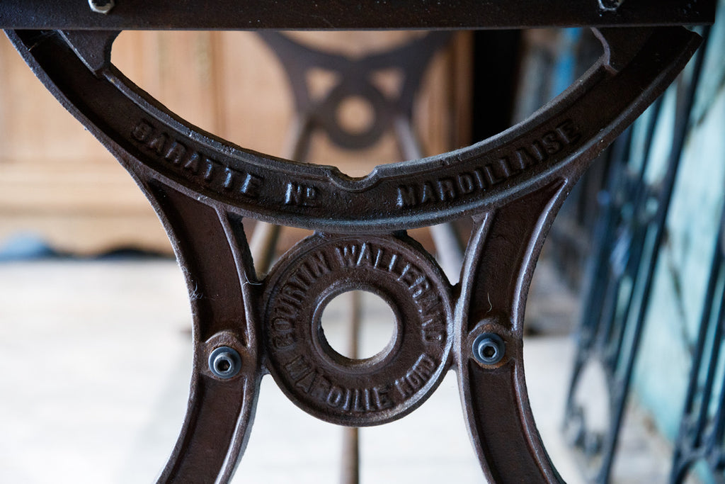 French Industrial Steel Table
