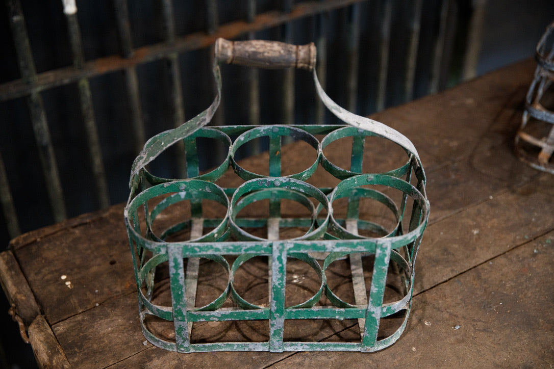 Vintage French Bottle Carriers