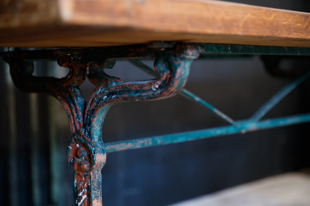 French Bistro Table - Green Patina