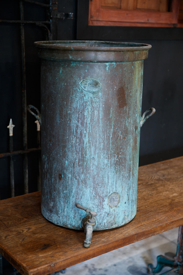 Vintage French Copper Distiller Urn
