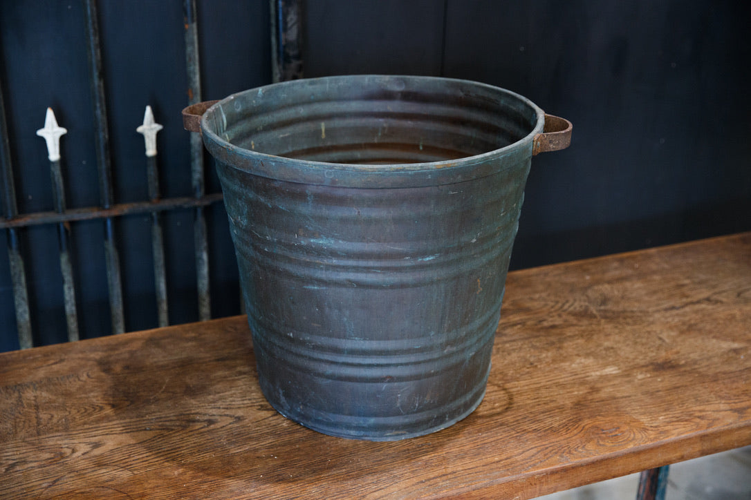 Large French Copper Bucket