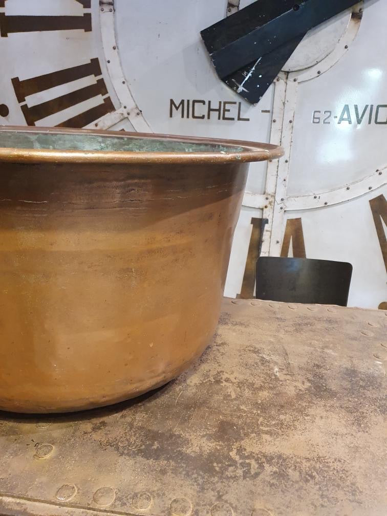 Huge French Copper Cauldron