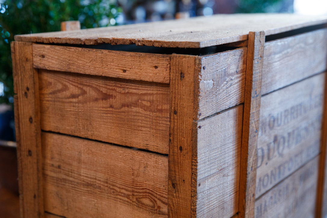 Vintage French Wooden Grocery Crate