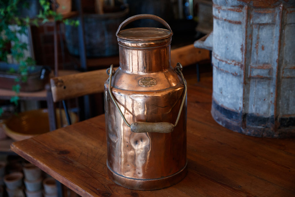 Belgium Copper Cream Churn