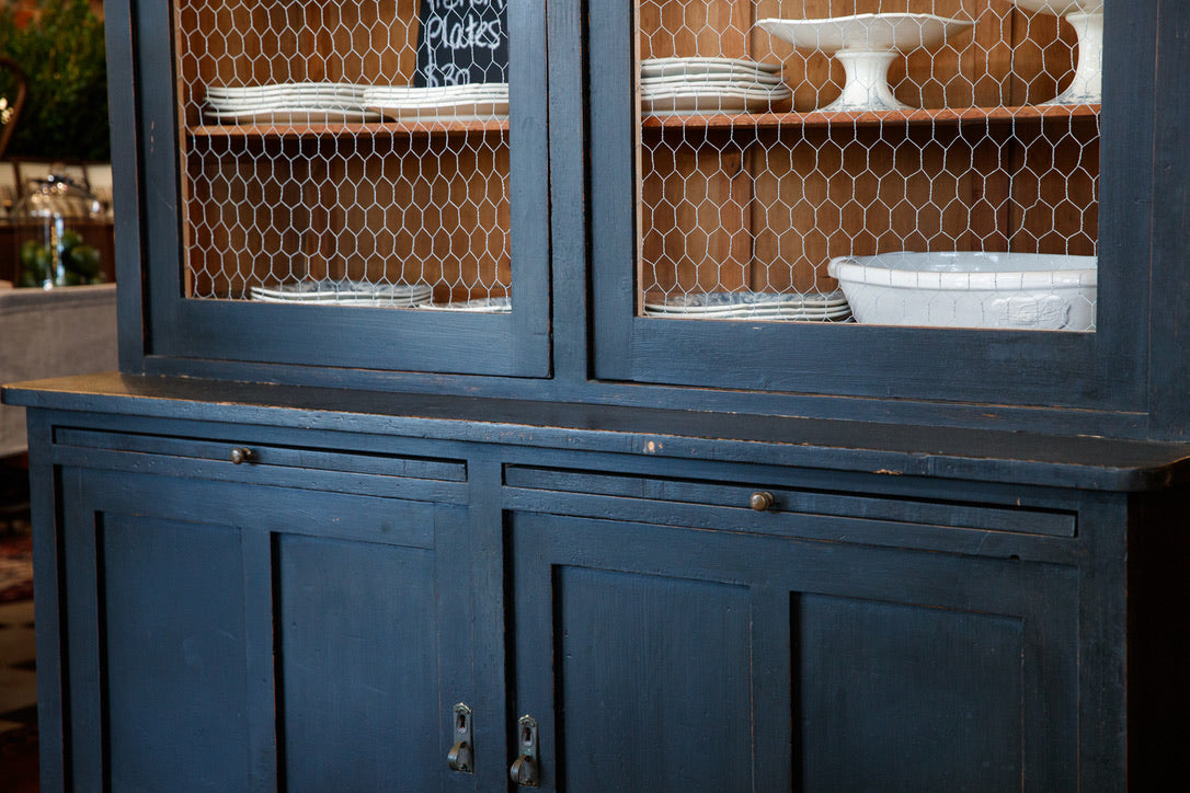 1930's French  Country Kitchen Hutch