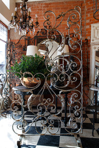 19th Century French Wrought Iron Orangerie Screen - White Patina