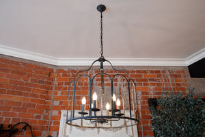 Contemporary Parisian Style Iron Chandelier