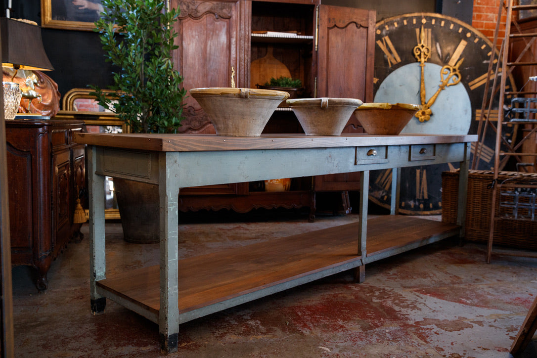 Vintage French Kitchen Island