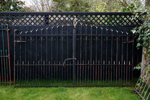 19th Century French Wrought Iron Entrance Gates- No 2