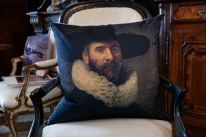 Rembrandt Oil Portrait Cushion