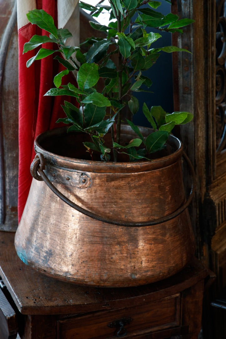 Large French Copper Cauldron