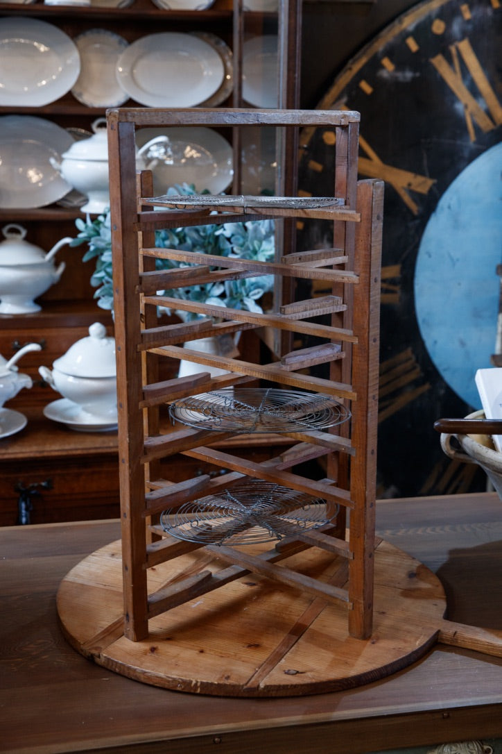 Vintage French Wooden Pie Rack
