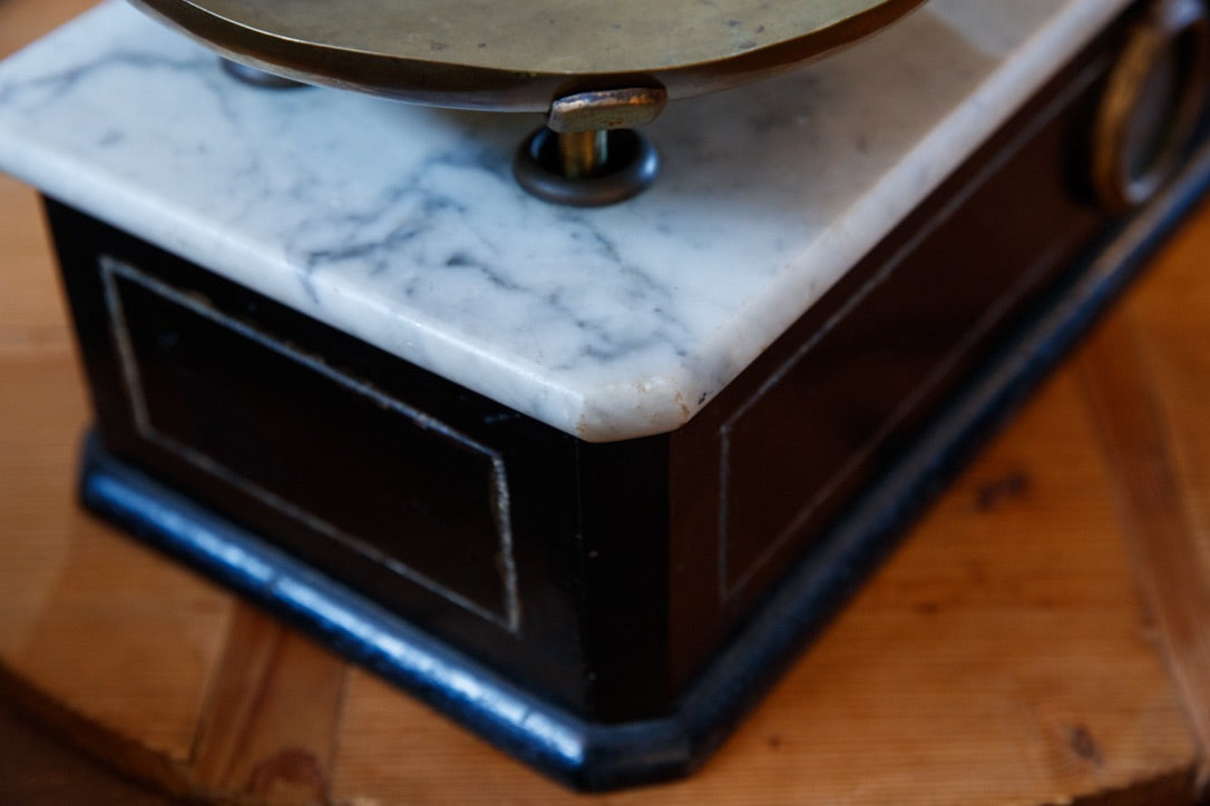 French Marble Chemist Scales