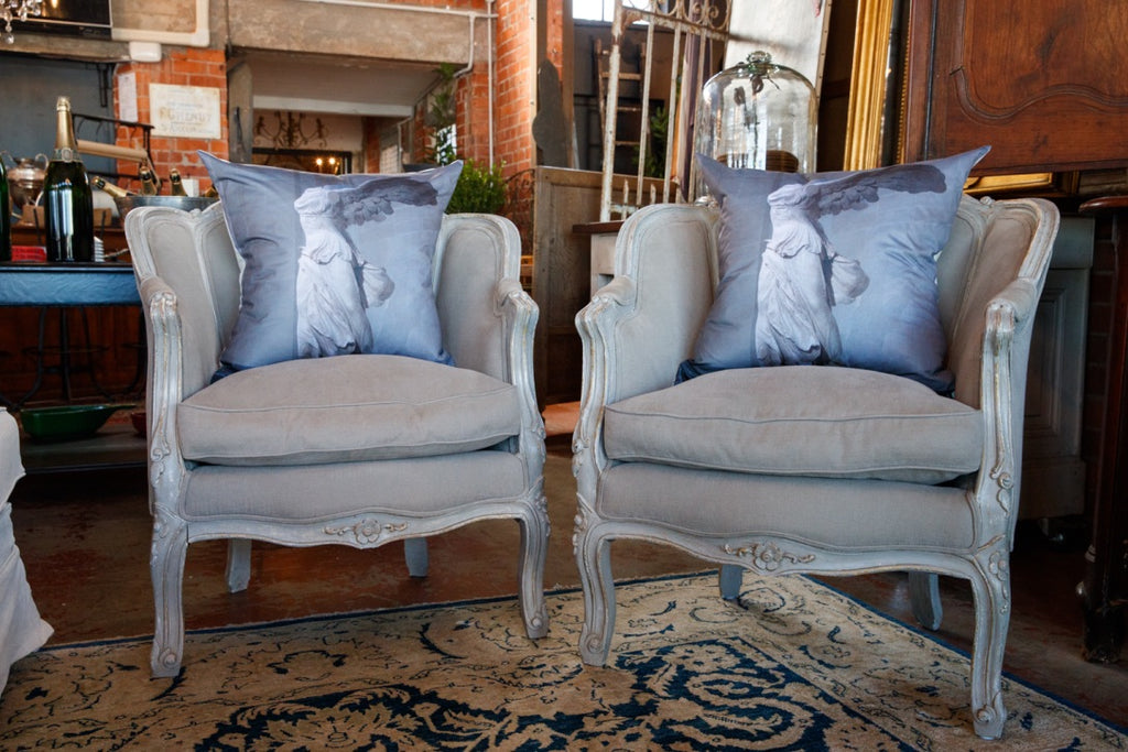 French Linen Parlour Chairs