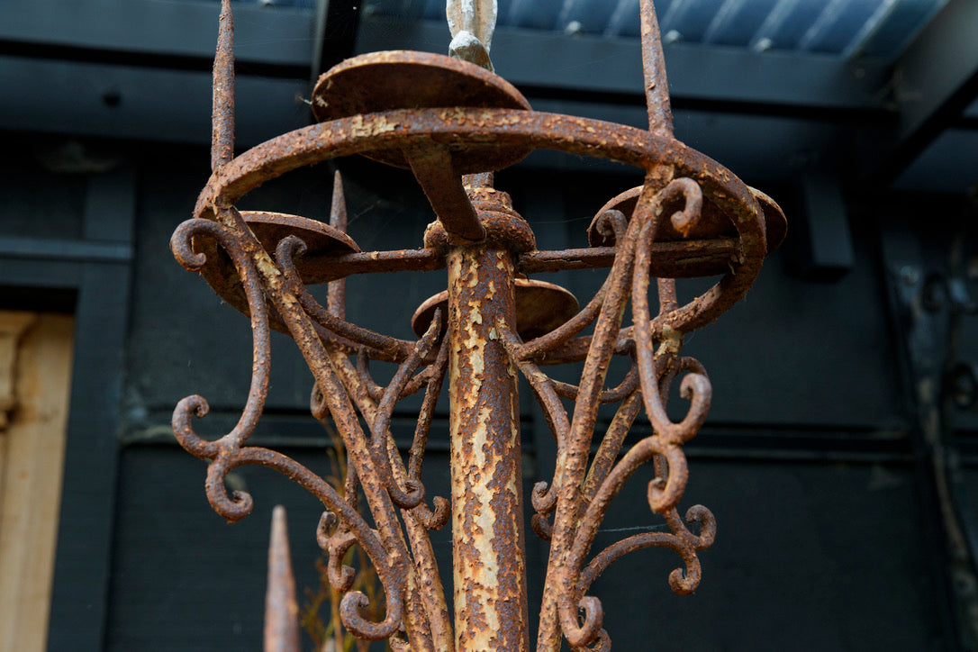 Beautiful French Wrought Iron Candelabra