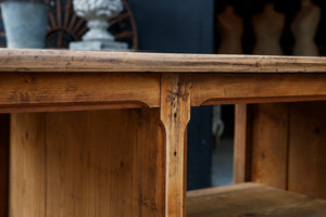 Gorgeous Vintage French Walnut Shop Counter