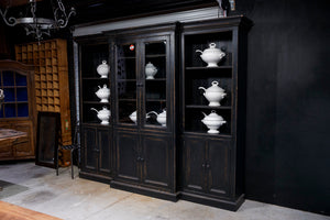 French Black Library Cabinet