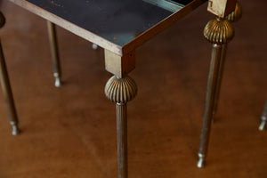 Original French Mid Century Mirrored Table Nest