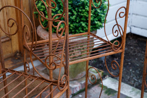 French Wrought Iron Orangerie Garden Shelves