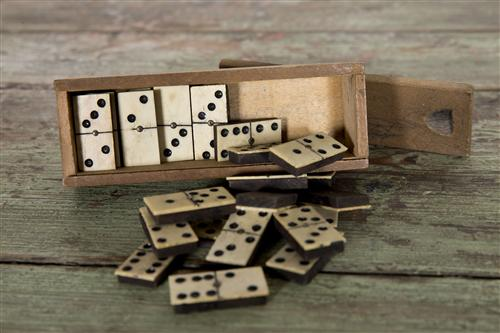 Vintage Box Of  French Dominos