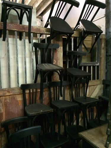 French Black Bistro Chairs