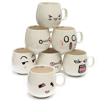 Mug Lovely Cute Cartoon White Pottery Ceramic Cup