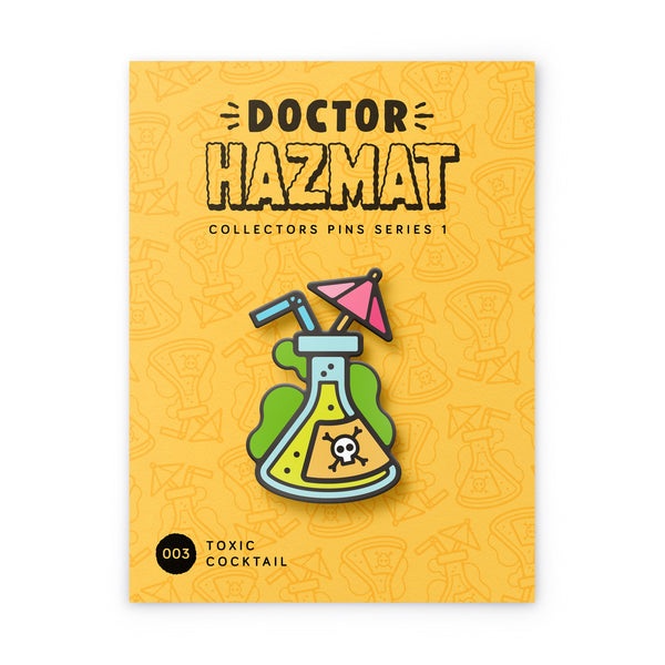 Toxic Cocktail Hard Enamel Pin
