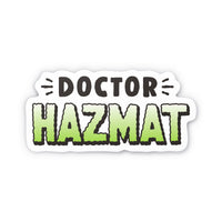 "Doctor Hazmat Logo 4"" Sticker"