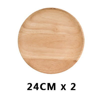 High Quality Beech Plates. Wooden Tableware.