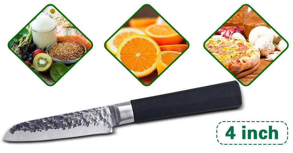 "Stainless Steel Paring Knife. New Multifunctional Japanese Style Kitchen Knife 4""."