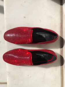 Disco Queen Red Diamond Loafers