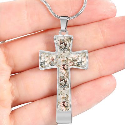 Victoria Garden Cross Necklace Pendant