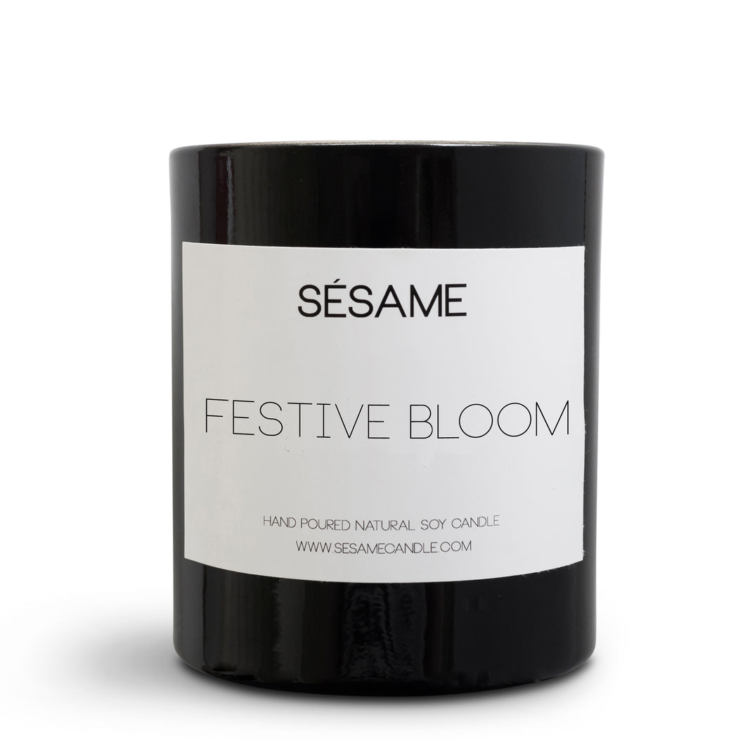 Festive Bloom Large Candle