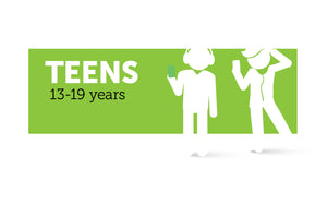 Age infographic: Teens 13 to 19 years
