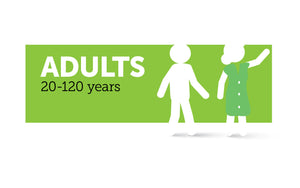 Age infographic: Adult 10 to 120 years