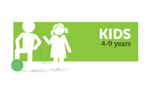 Age infographic: Kids 4 to 9 years