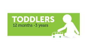 Age infographic: Toddlers 12 months to 3 years