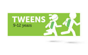 Age infographic: Tweens 9 to 12 years