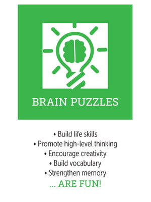 Benefits of brain puzzles, infographic