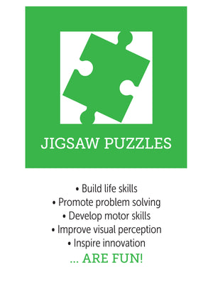 Jigsaw puzzle benefits, infographic