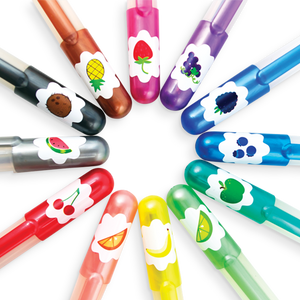 Yummy Scented Glitter Gel Pens - Set of 12