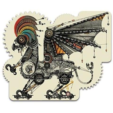 Diego Mazzeo - Mechanical Griffin - Heirloom-Quality - Wooden Jigsaw Puzzle