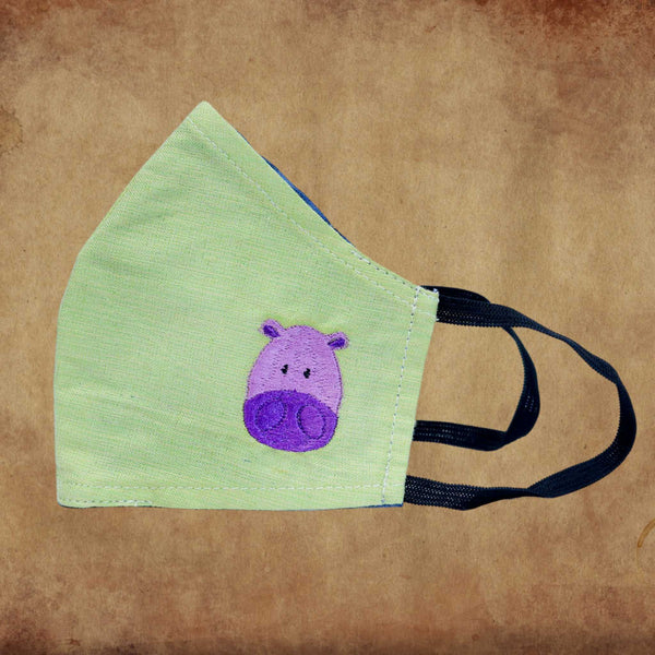 Children's Fabric Mask – Hippo