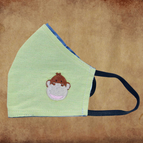 Children's Fabric Mask – Monkey