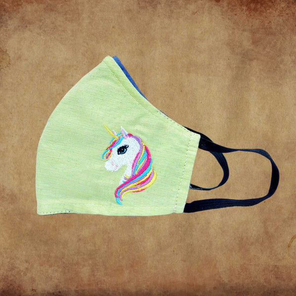 Children's Fabric Mask – Unicorn