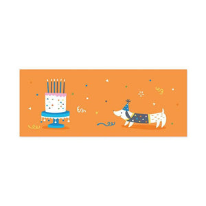 Dachshunds Panoramic Pop-up Card with sound