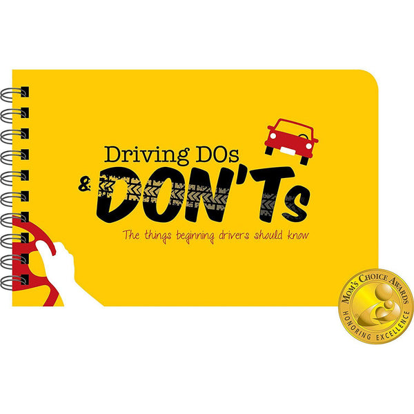 Driving Dos and Don'ts Book Cover with Mom's Choice Award Logo