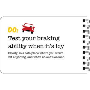 Driving Dos and Don'ts sample page - Test your braking ability when it's icy